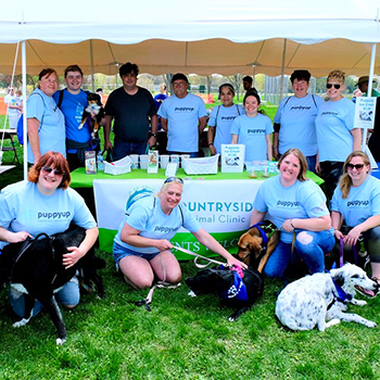 The Countryside Animal Clinic team at Puppy Up Madison